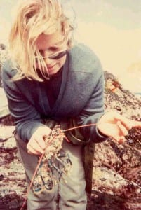 jane with lobster